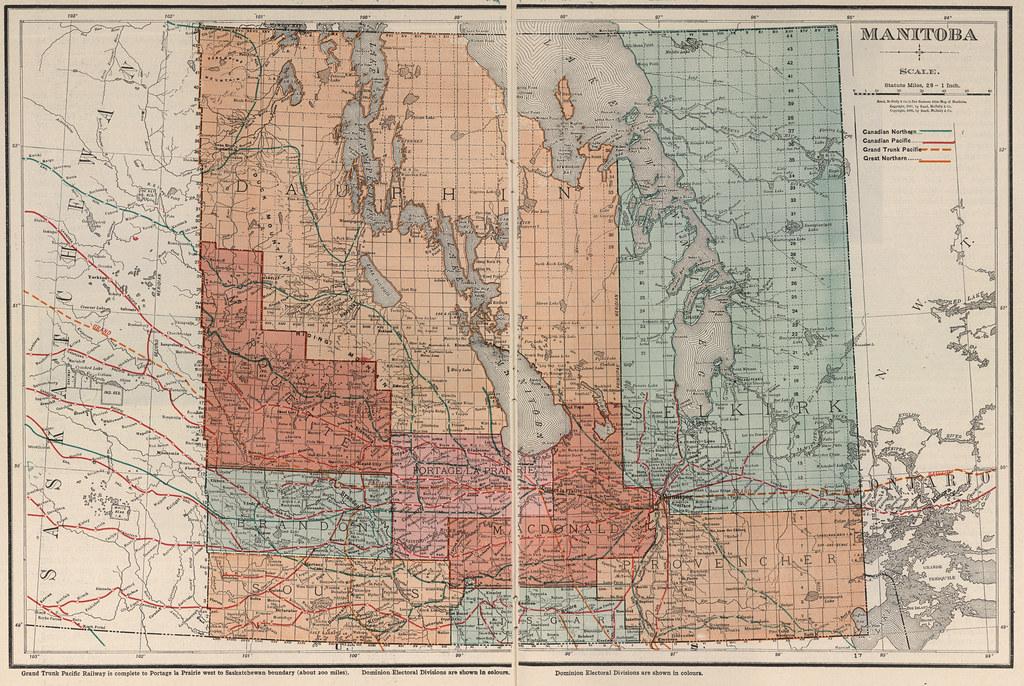 New Business Atlas Map of Manitoba] (1907) | Rand McNally