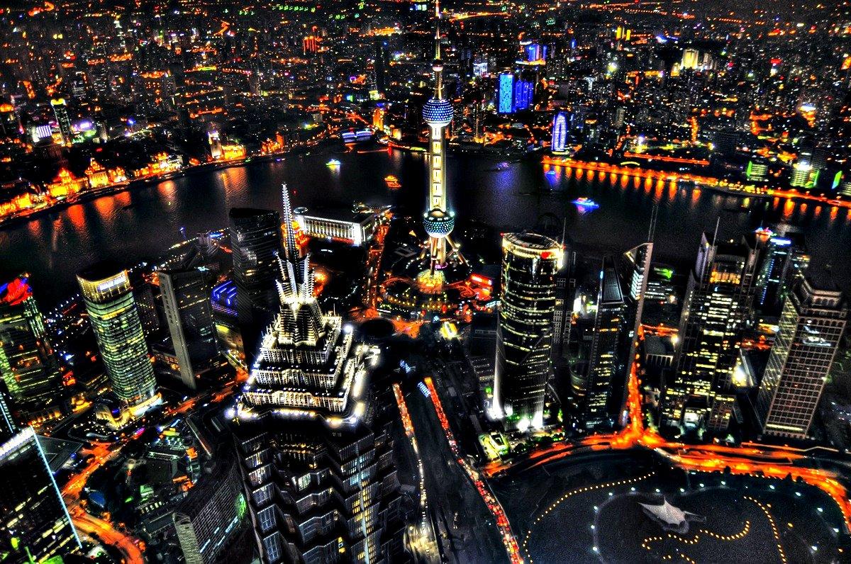 Shanghai Skyline from 492 Meters