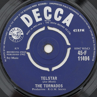 Tornados Telstar Joe Meek Decca I Picked Up A Quot Job