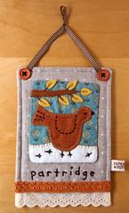 Linen Partridge Hanging