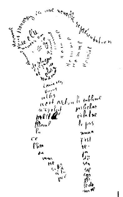 guillaume apollinaire - horse calligram