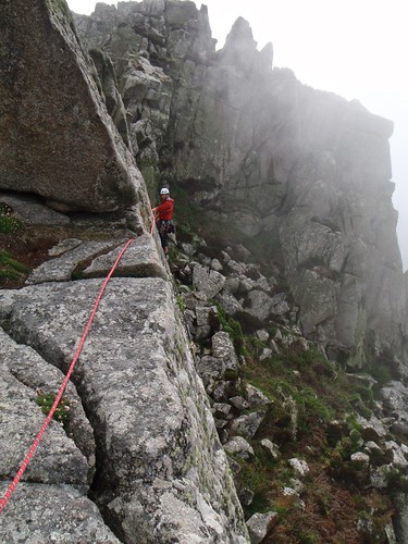 27 - Graeme leading Commando Ridge, Bosigran, Cornwall, England.