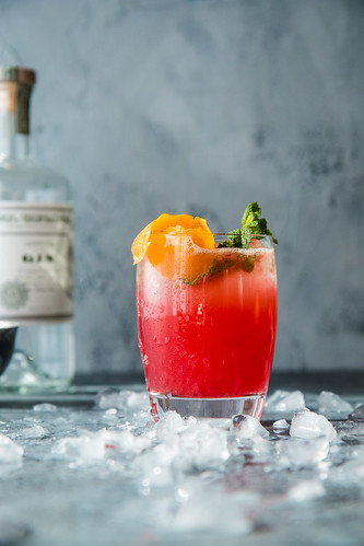 Blood Orange Vanilla Bean Gin And Tonic   by WillCookForFriends