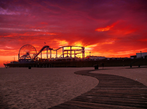 ocean california park santa leica sunset sky beach wheel clouds century lumix fire la pier los view pacific angeles ferris panasonic southern monica promenade roller coaster fz50 abigfave top20la