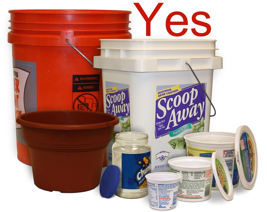 Yes - Buckets, Pails, and Lids