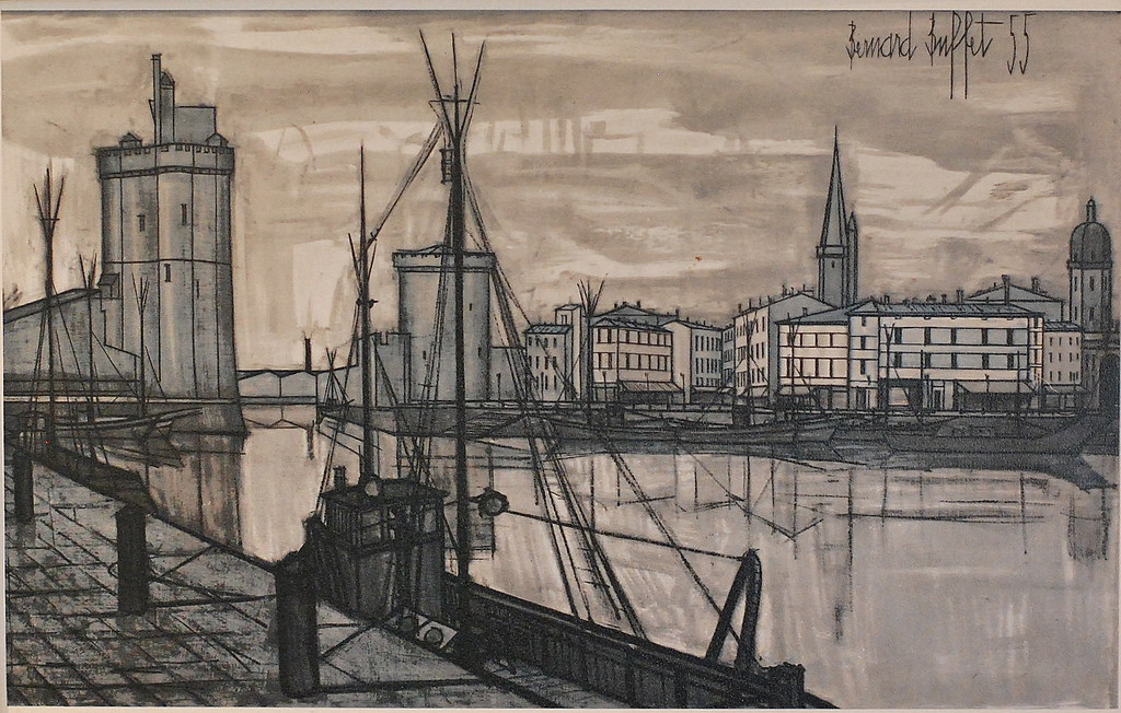 Enjoyable Bernard Buffet Lithograph 1955 Fred Rockwood Flickr Home Interior And Landscaping Ologienasavecom