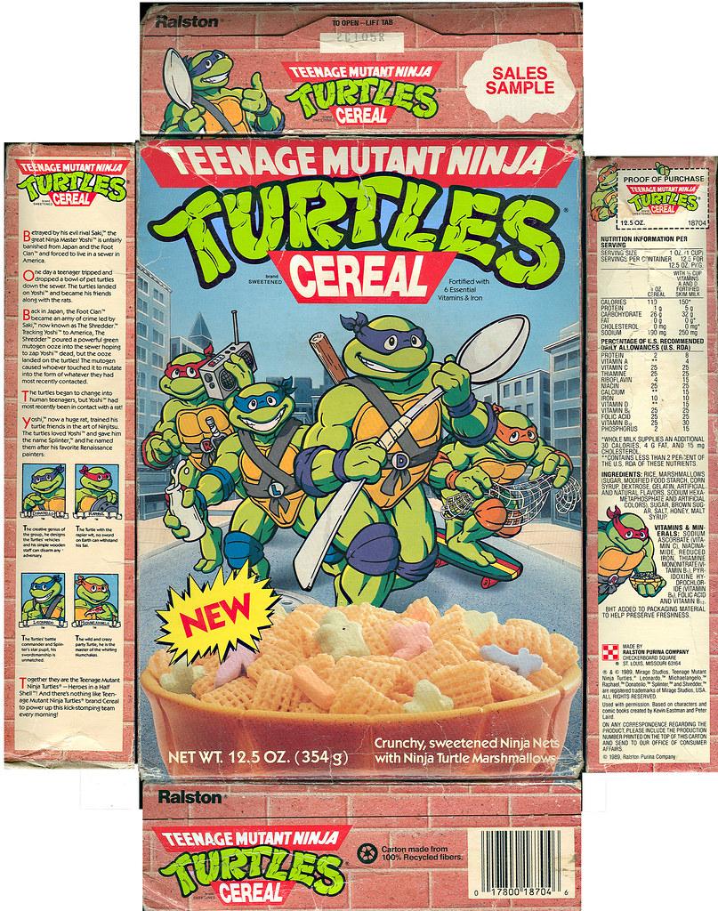 """Ralston ::""""TEENAGE MUTANT NINJA TURTLES"""" CEREAL - Sales Sample i (( 1989 )) by tOkKa"""