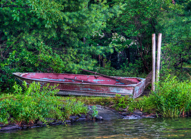 Old Row Boat - HDR from Single Shot