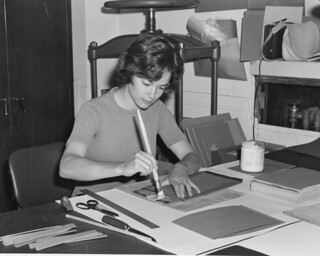 Photograph of Sharon Conway Bookbinding in Document Preservation | by The U.S. National Archives