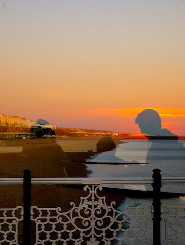 sunset sussex pier seaside brighton refections kitzoom olympuspenep1