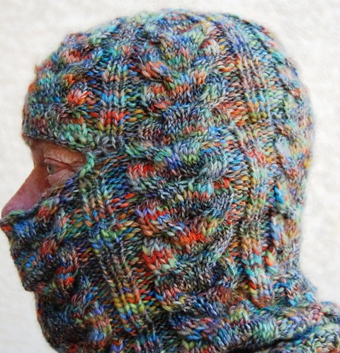 Cabled Balaclava side view
