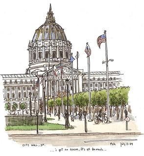 sketchcrawl 23 city hall SF
