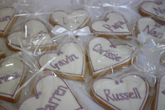 Personalised Placecard Wedding Cookies