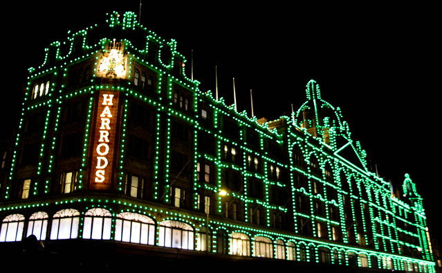Harrods in holiday dress