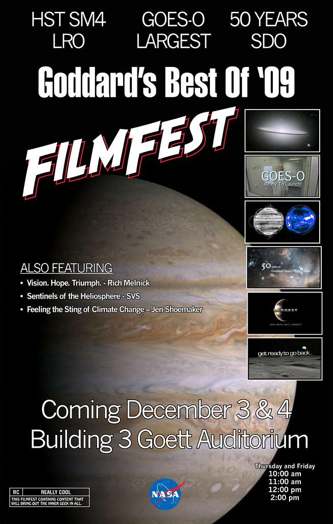 2009 Film Fest Poster   NASA Goddard Space Flight Center