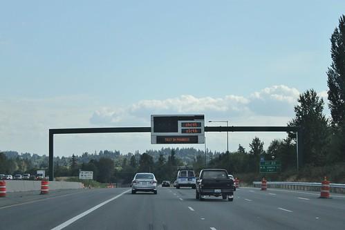I-405 Express Toll Lane VMS testing