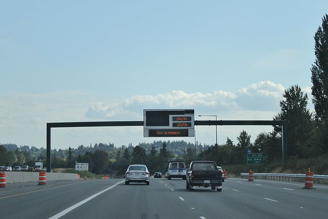 I-405 Express Toll Lane VMS testing