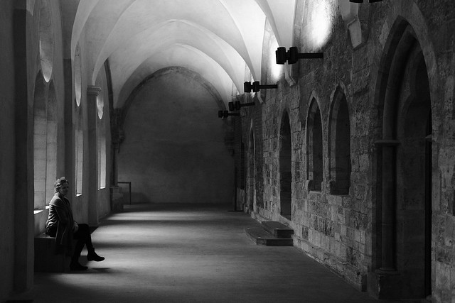 Meditating in the cloister