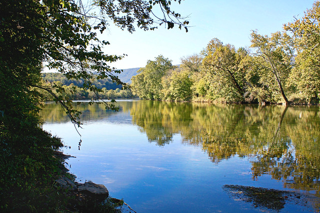 Shenandoah River State Park - river with reflection calm - edited by SA
