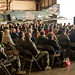 "Former McDonnell Douglas F-4 Phantom II pilots and other visitors listen to the remarks of Lt. Col. Ron ""Elvis"" King, commander of the 82nd Aerial Target Squadron Detachment 1 during a retirement ceremony following the final military flight of the storied Phantom at Holloman AFB, N.M., Dec. 21, 2016. The F-4 Phantom II entered the U.S. Air Force inventory in 1963 and was the primary multi-role aircraft in the USAF throughout the 1960s and 1970s. The F-4 flew bombing, combat air patrol, fighter escort, reconnaissance and the famous Wild Weasel anti-aircraft missile suppression missions. King was the last active-duty Air Force pilot to fly the final variant of the Phantom II, the QF-4 unmanned aerial target. (U.S. Air Force photo by J.M. Eddins Jr.)"