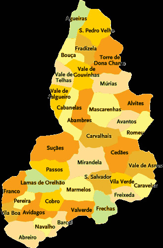 Concelho De Mirandela Mapa Das Freguesias Jorge Bastos Flickr