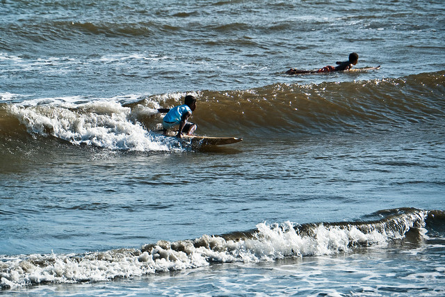 Surfing broken boards...