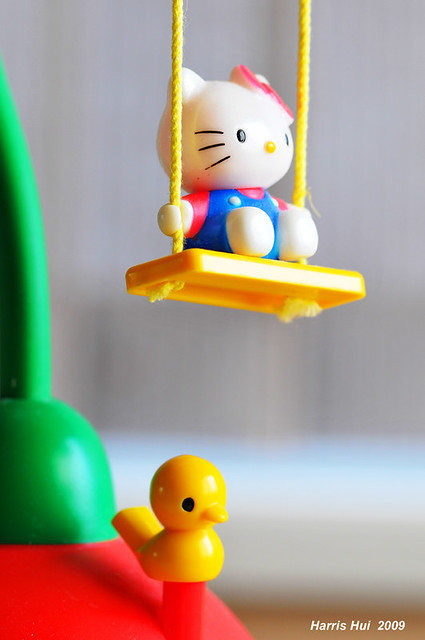 Hello Kitty On The Swing N0551e Hello Kitty On The Swing A