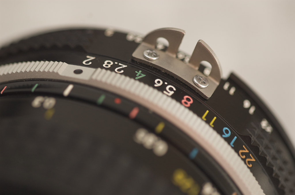 Colourful aperture ring
