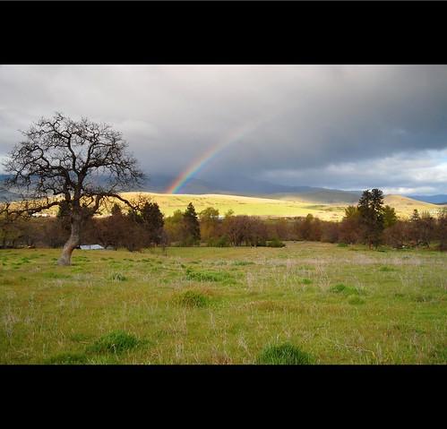 oregon landscape spring rainbow ashland roguevalley the4elements