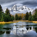 Icy Teton Beaver Dam by Jerry T Patterson