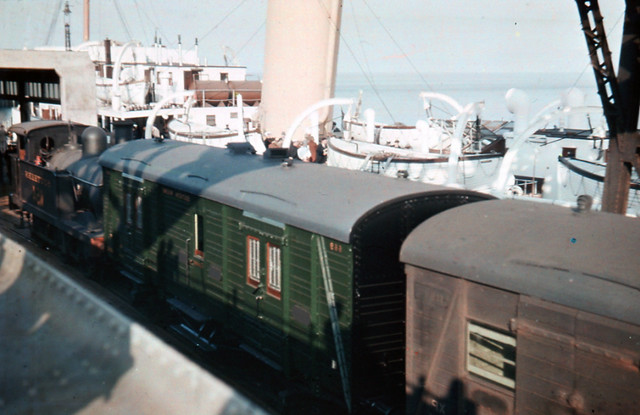 SR - R1 class 0-6-2T no. 1154 with boat train and mail for continent at Folkestone Harbour