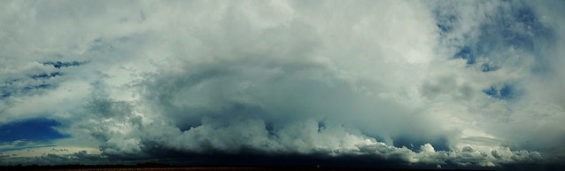 052011 - Cumulonimbus Incus / Developing Shelf Cloud - Pano