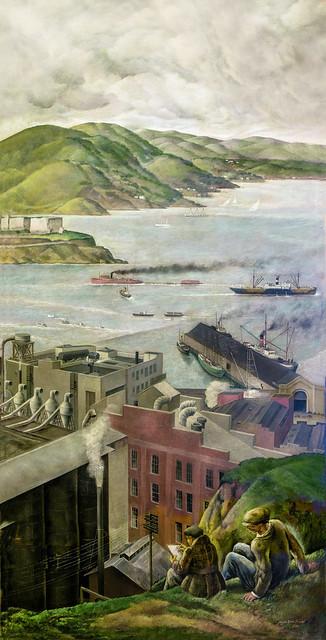 """""""San Francisco Bay, North"""" • Coit Tower, 1934"""