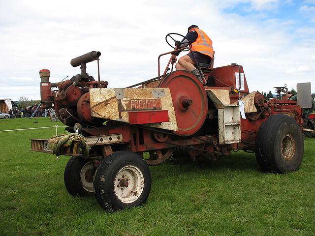 Freeman Hay Baler   Tauranga Vintage Machinery Club 25th Ann
