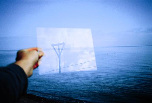 blue sea reflection lomo lca xpro lomography crossprocessed xprocess low ground lomolca groundlevel agfa jessops100asaslidefilm agfaprecisa lomograph perspex agfaprecisa100 precisa ratseyeview deletetag jessopsslidefilm phootcamp roll:name=091014lomolcaxproap file:name=091014lomolcaxproap117