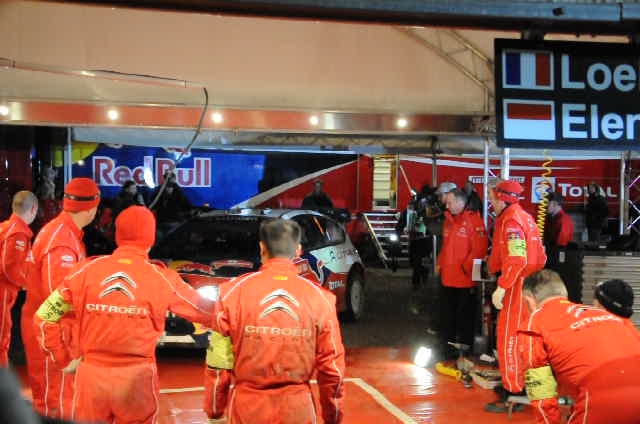 Loeb arrives to service