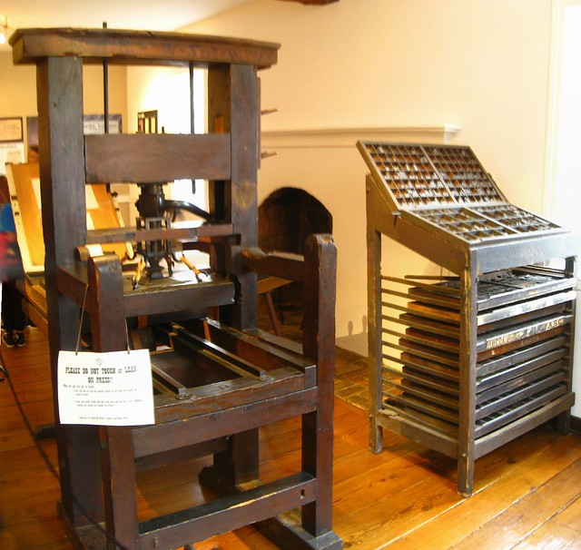 JC Blum original printing press | The J  Blum House was buil