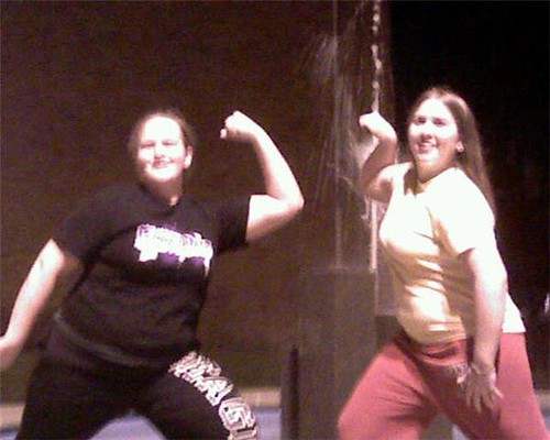 amy and rose ann being muscle woman