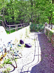 Repairing a puncture near Hexham   by Guy R