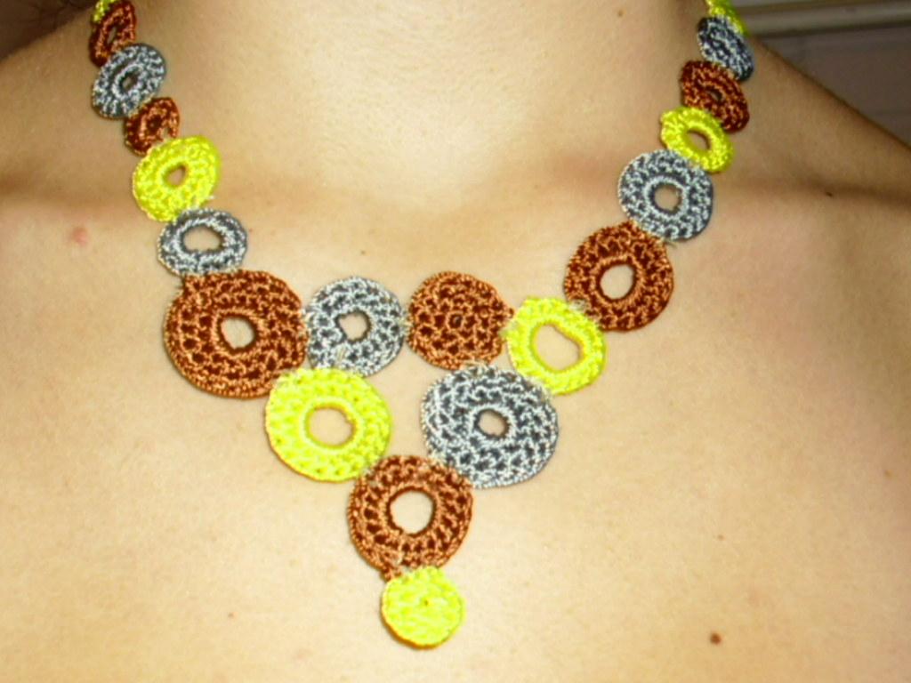 Collar Tejido A Crochet 3000 Danni Pulgar Flickr