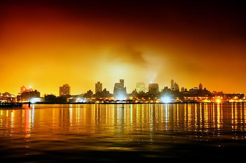 nyc newyorkcity longexposure skyline brooklyn night skyscraper geotagged cityscape eastriver hdr mudpig stevekelley