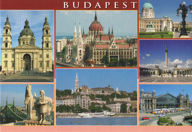 Budapest, Hungary Multi-view Postcard