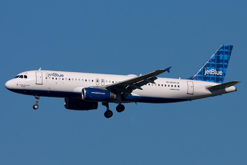 N593JB - jetBlue - Airbus A320