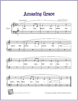 picture regarding Free Printable Piano Sheet Music for Amazing Grace called Remarkable Grace No cost Sheet Songs for Newbie Piano (PDF