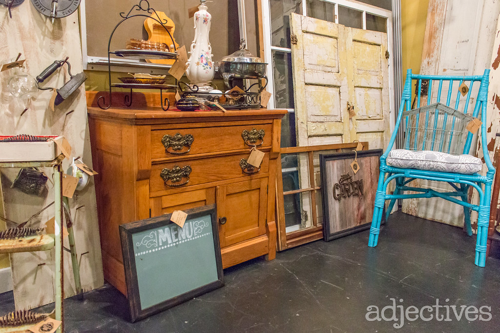 Adjectives Featured Finds in Winter Garden by Waterfront Salvage