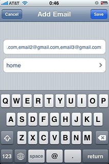 Screenshots for article on using email groups in iPhone Mail | by anonymonk