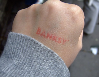 banksy handstamp | by kitsch&curious
