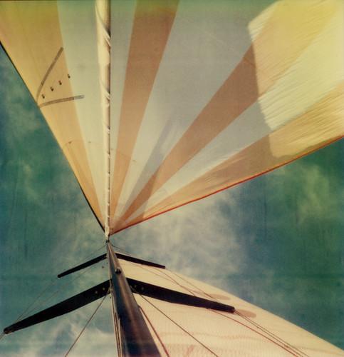 film yellow race polaroid sx70 boat sail mast spinnaker arcadia atz greatpumpkin ryc