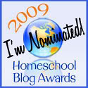 Homeschool Blog Awards Nominated button | by HarmonyArtMom