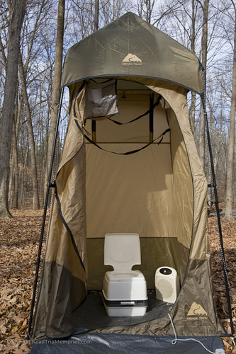 "Our ""outhouse"" with Thetford Porta-Potti 